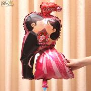 Bóng bay hình Cô dâu – Chú rể hôn nhau