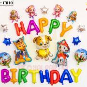 Bộ bóng bay sinh nhật chú chó C010