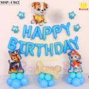 Bộ bóng bay sinh nhật chú chó C012