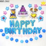 Bộ bóng bay sinh nhật chú chó C013