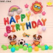 Bộ bóng bay sinh nhật chú chó C014