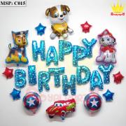 Bộ bóng bay sinh nhật chú chó C015